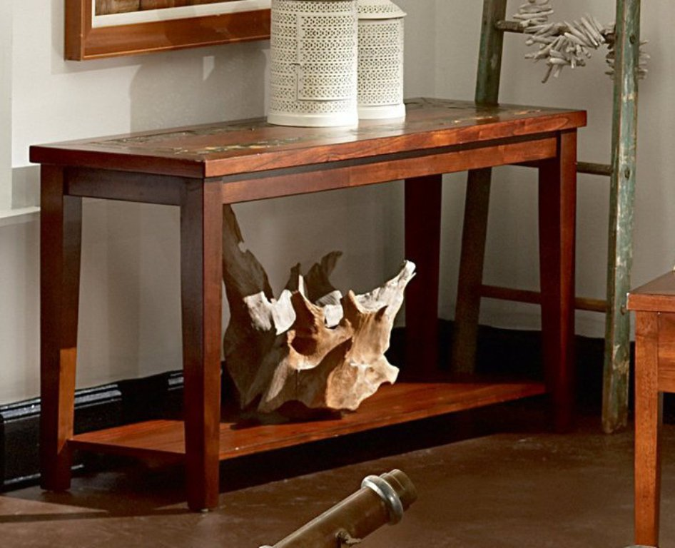 Picture of: Dark Cherry Sofa Table