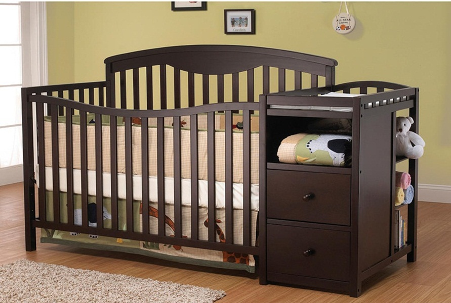 Image of: Design Cribs With Changing Table Combo