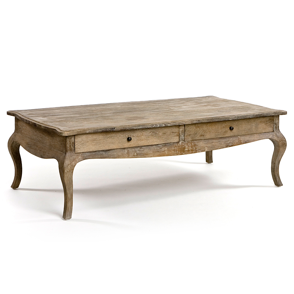 Distressed Wood Coffee Table Room