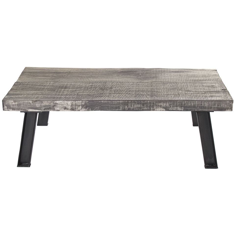 Picture of: Distressed Wood Coffee Table Rustic