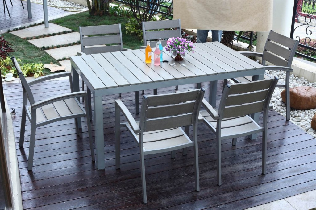 Image of: Elegant Rectangular Patio Table