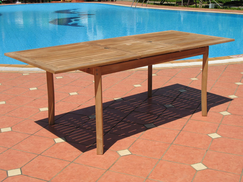 Image of: Expandable Outdoor Dining Table Long