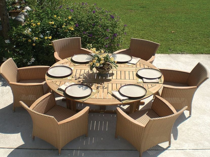 Expandable Outdoor Dining Table Round