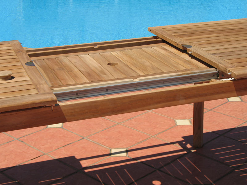 Image of: Expandable Outdoor Dining Table System