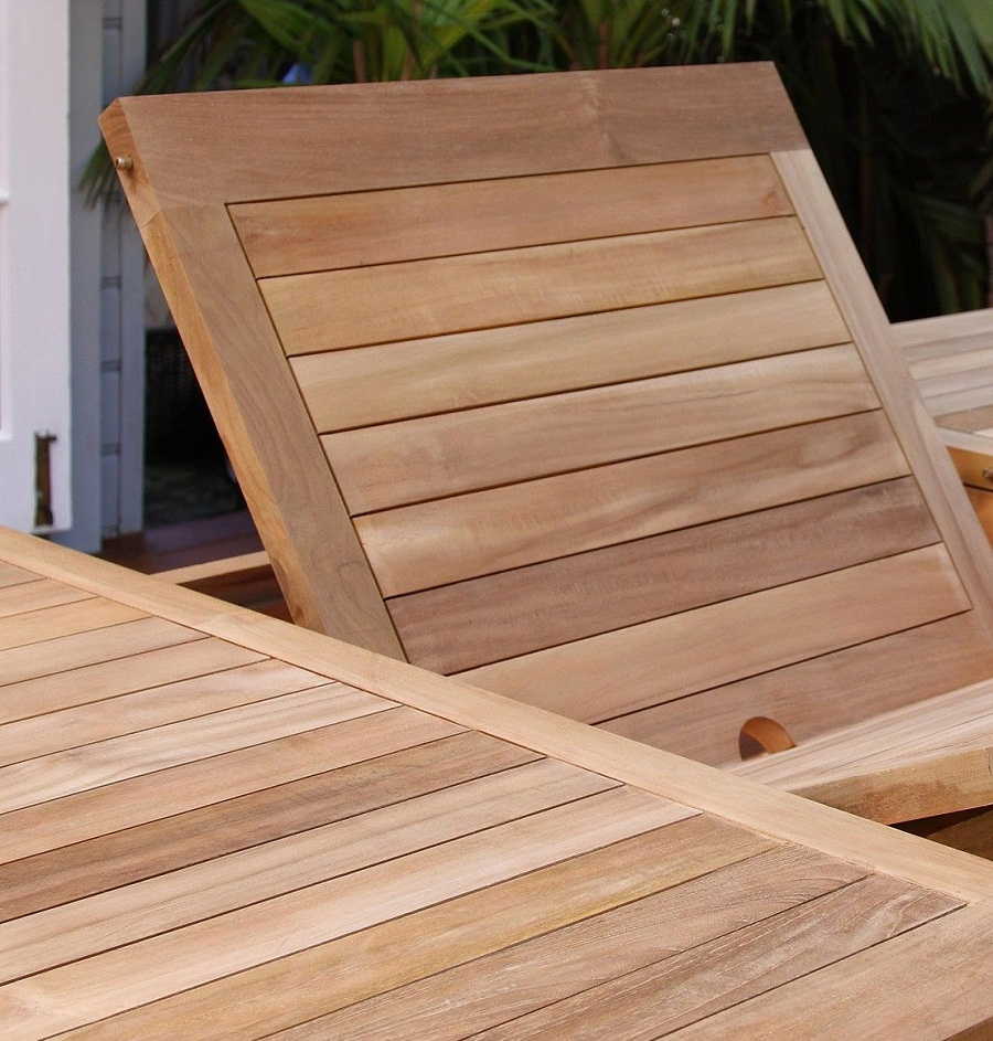 Image of: Expandable Outdoor Dining Table Teak