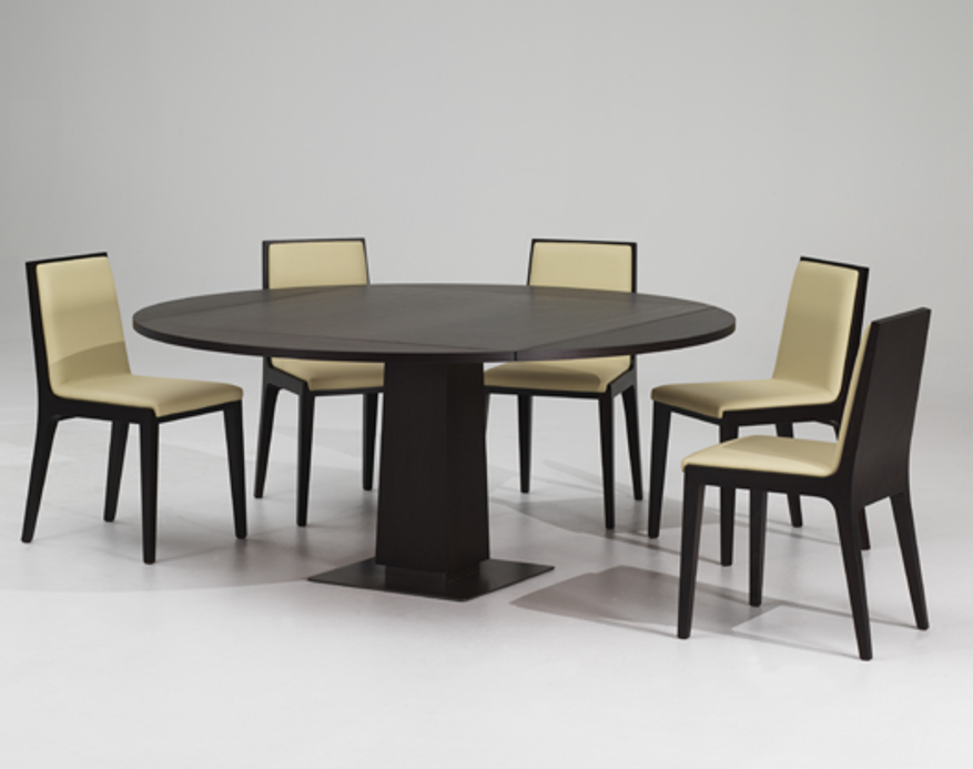 Picture of: Expandable round dining table by skovby