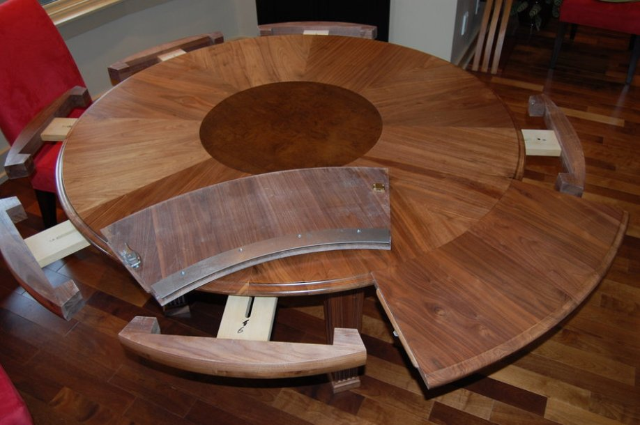Picture of: Expandable round dining table design