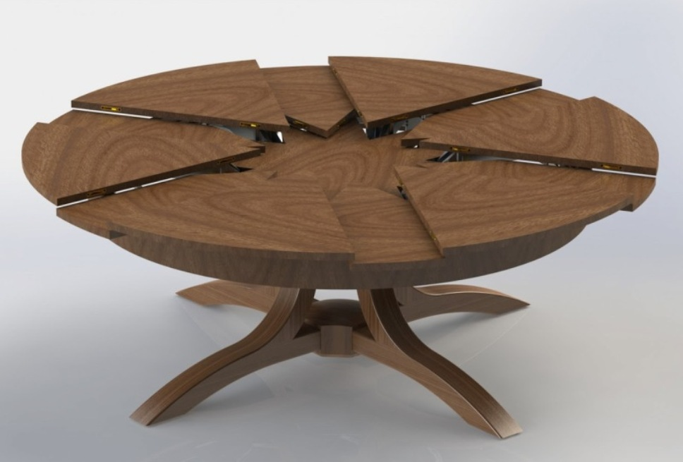 Picture of: Expandable round dining table