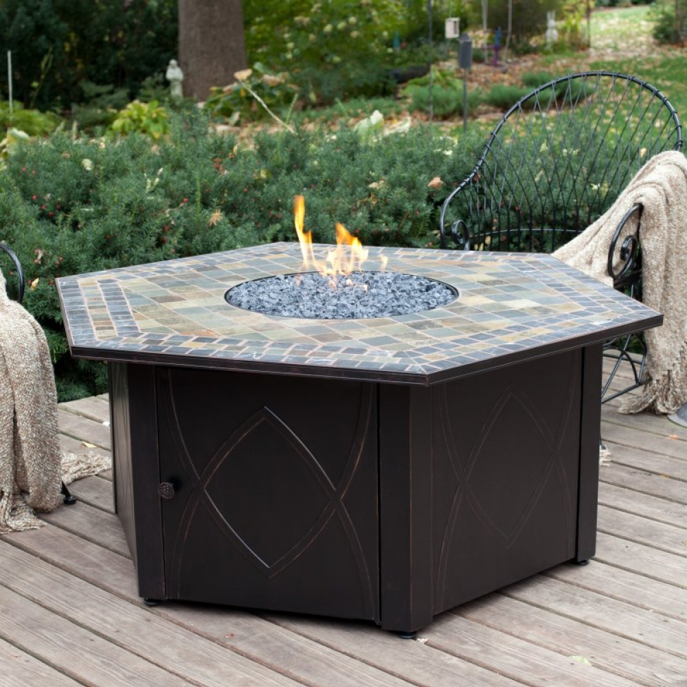Picture of: Firepit Patio Table Inspired