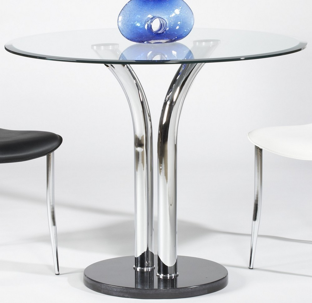 Image of: Glass Bistro Table 36 Inch Round