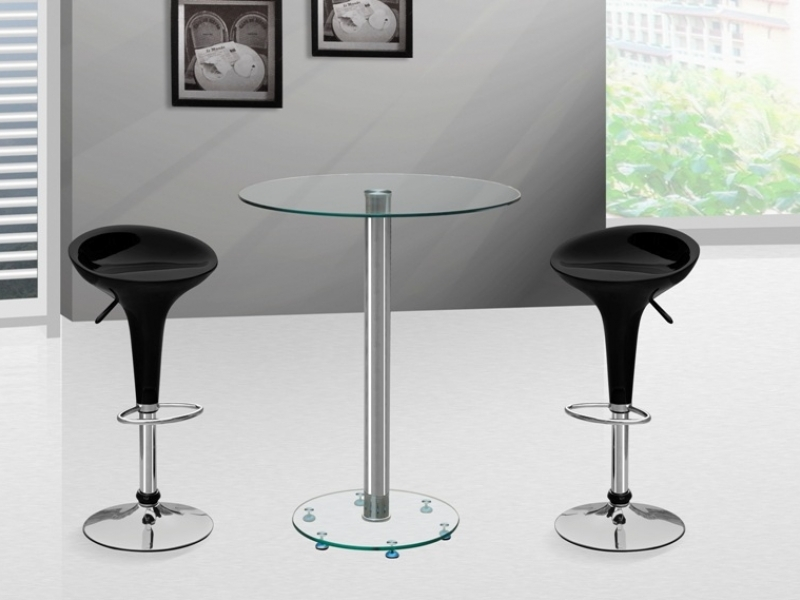 Image of: Glass Bistro Table Bar Stools