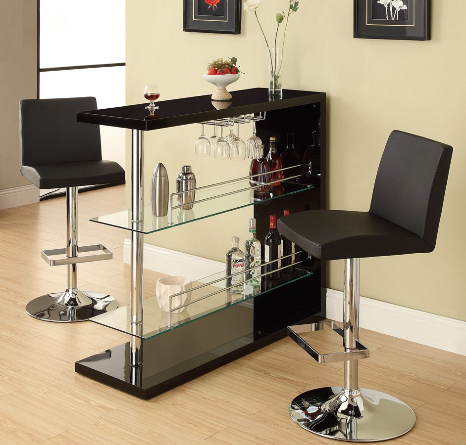 Image of: Glass Bistro Table Contemporary