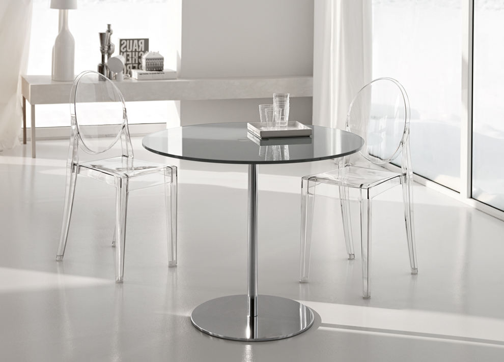 Image of: Glass Bistro Table Monochrome
