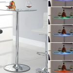 Glass Bistro Table Round Bar