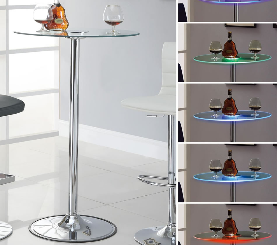 Image of: Glass Bistro Table Round Bar