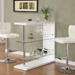 Glass Bistro Table White