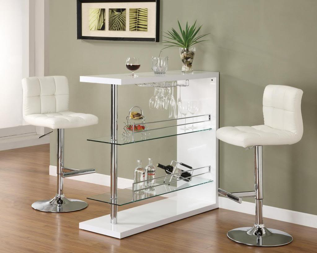 Image of: Glass Bistro Table White