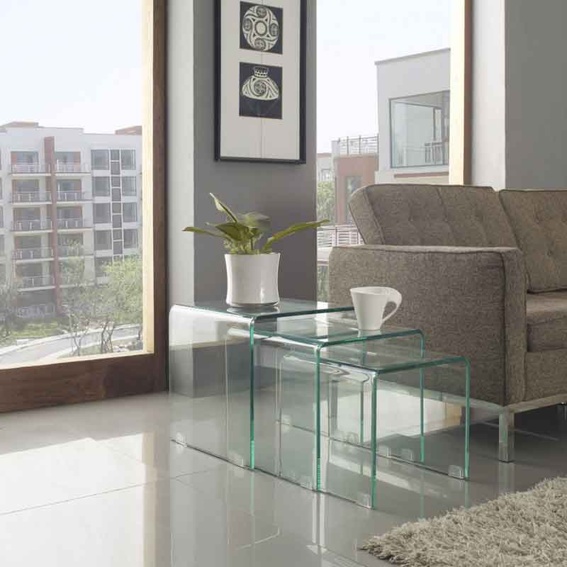 Picture of: Glass Nesting Tables Furniture