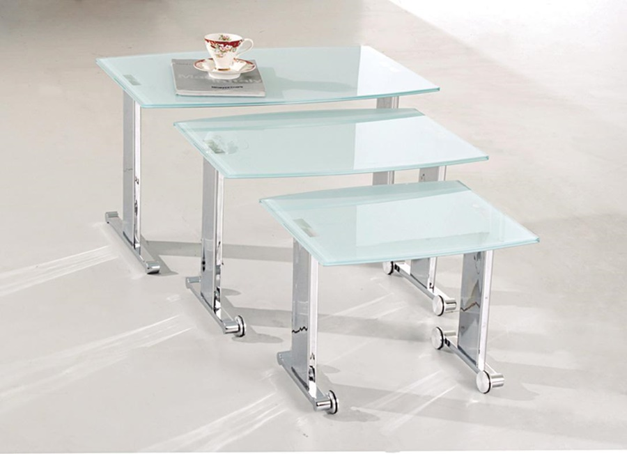 Picture of: Glass Nesting Tables Stacking