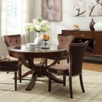 Glass Top Round White Pedestal Dining Table