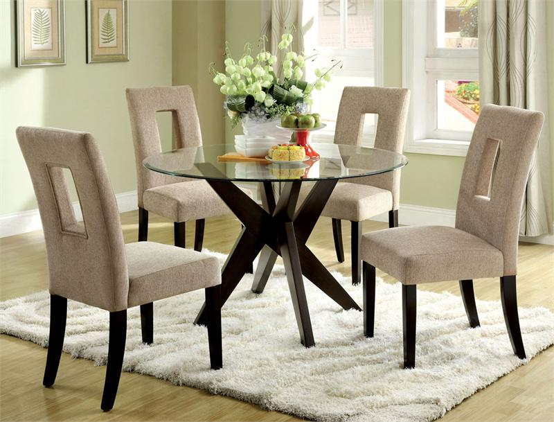 Picture of: Glass dining room table sets 4 chairs