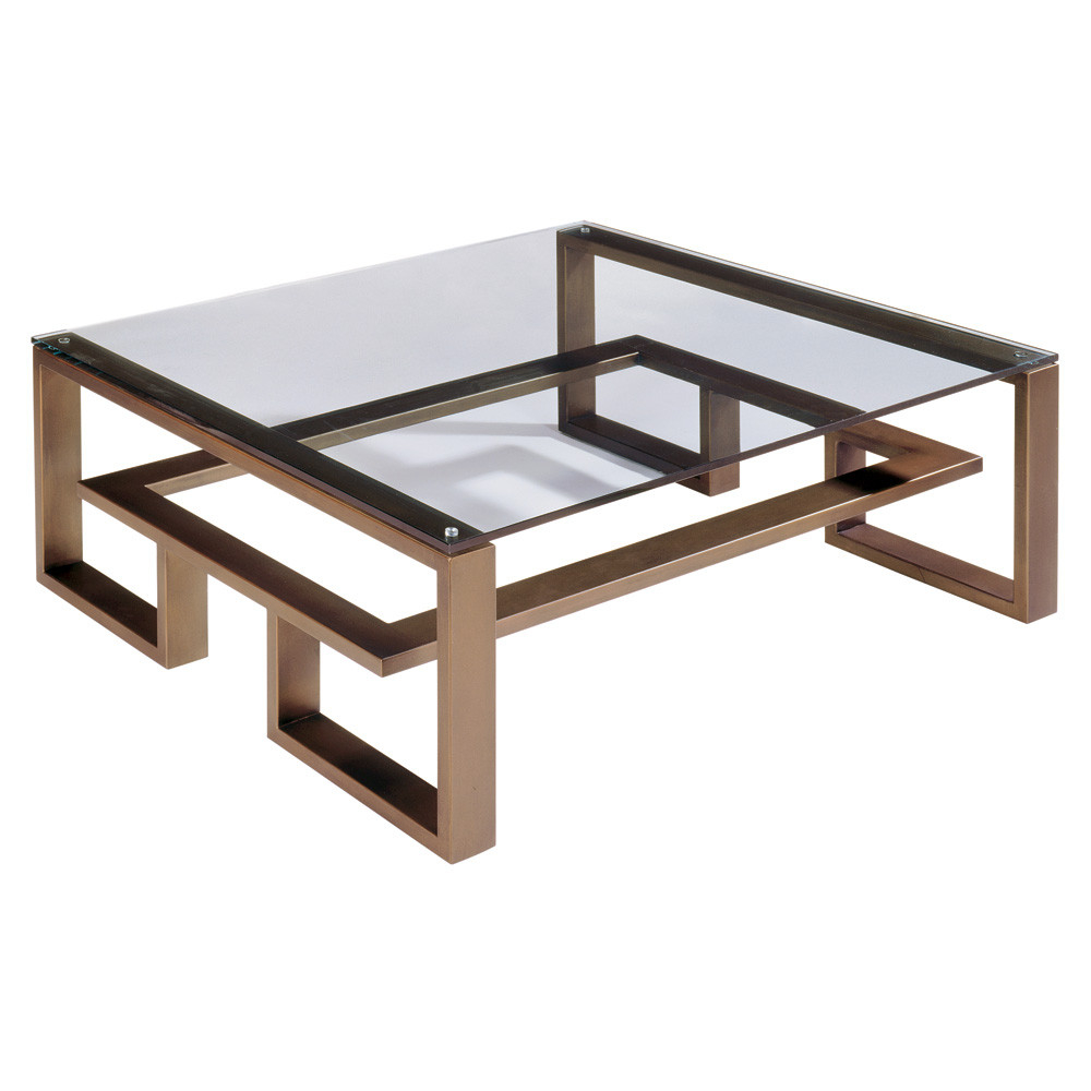 Image of: Glasses Large Square Coffee Table