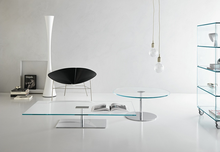 Image of: Ideas Tempered Glass Coffee Table