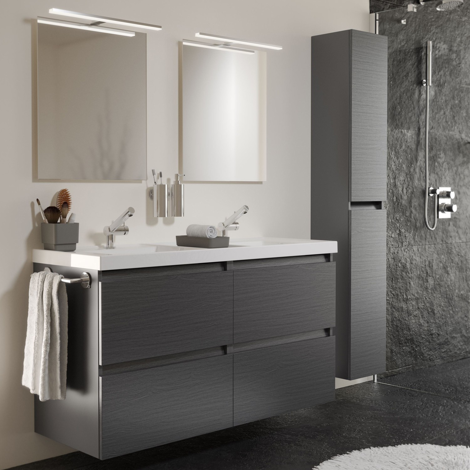 Picture of: Ikea Bathroom Vanity Gray