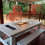 Iron Firepit Patio Table
