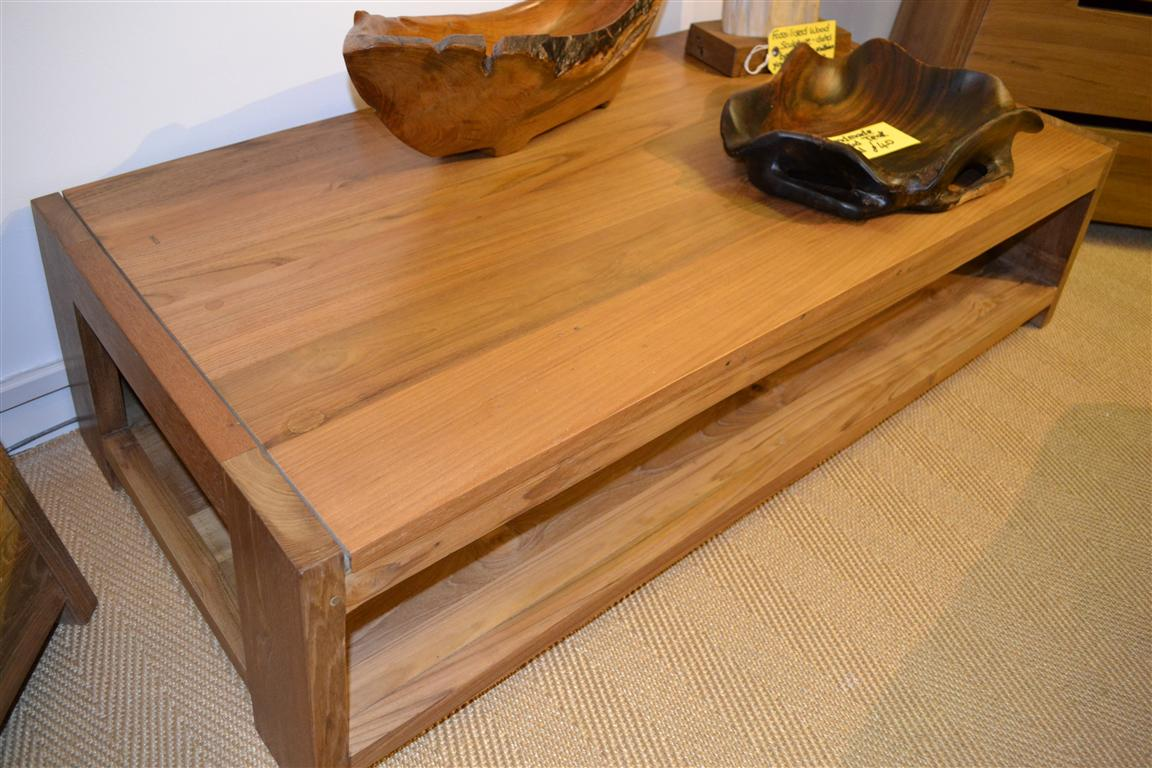 Image of: large teak coffee table