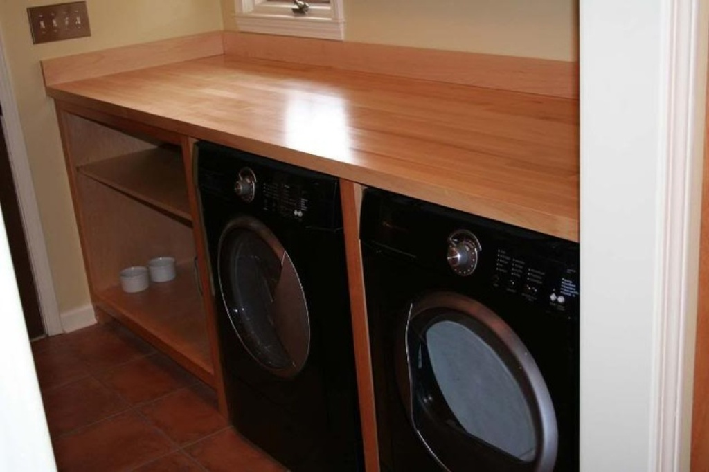 Picture of: Laundry Folding Table Over Washer Dryer