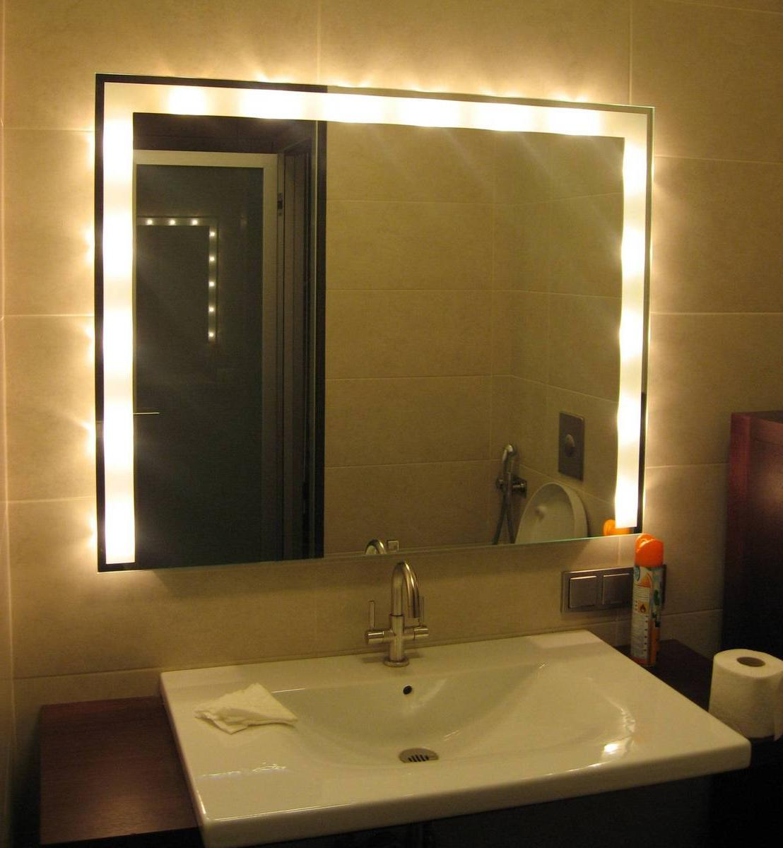 Image of: Led Vanity Lights Mirror
