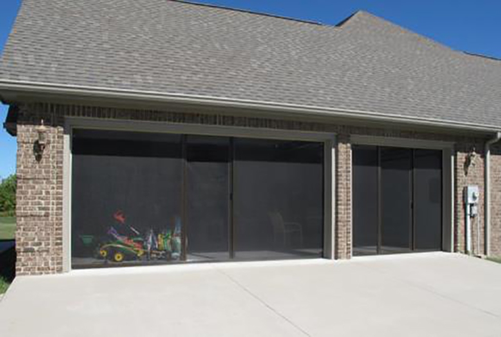 Picture of: Lifestyle Retractable Garage Door Screens