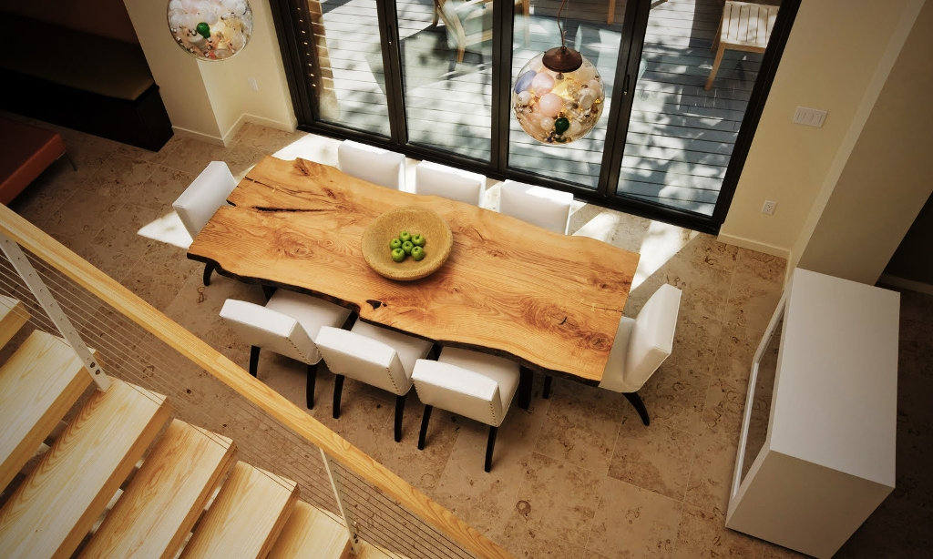 Image of: Live Edge Dining Table Bases