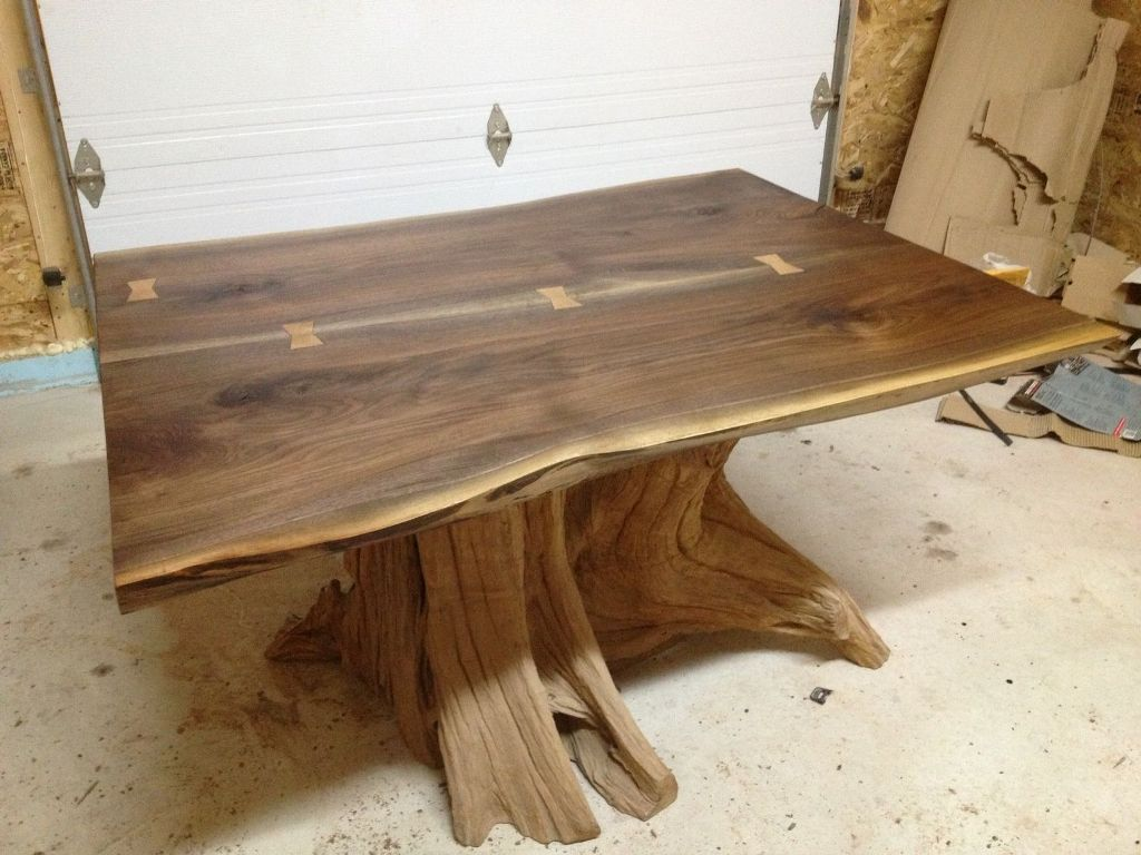 Image of: Live Edge Dining Table Pads