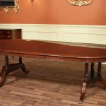 Long And Oval Dining Table With Leaf