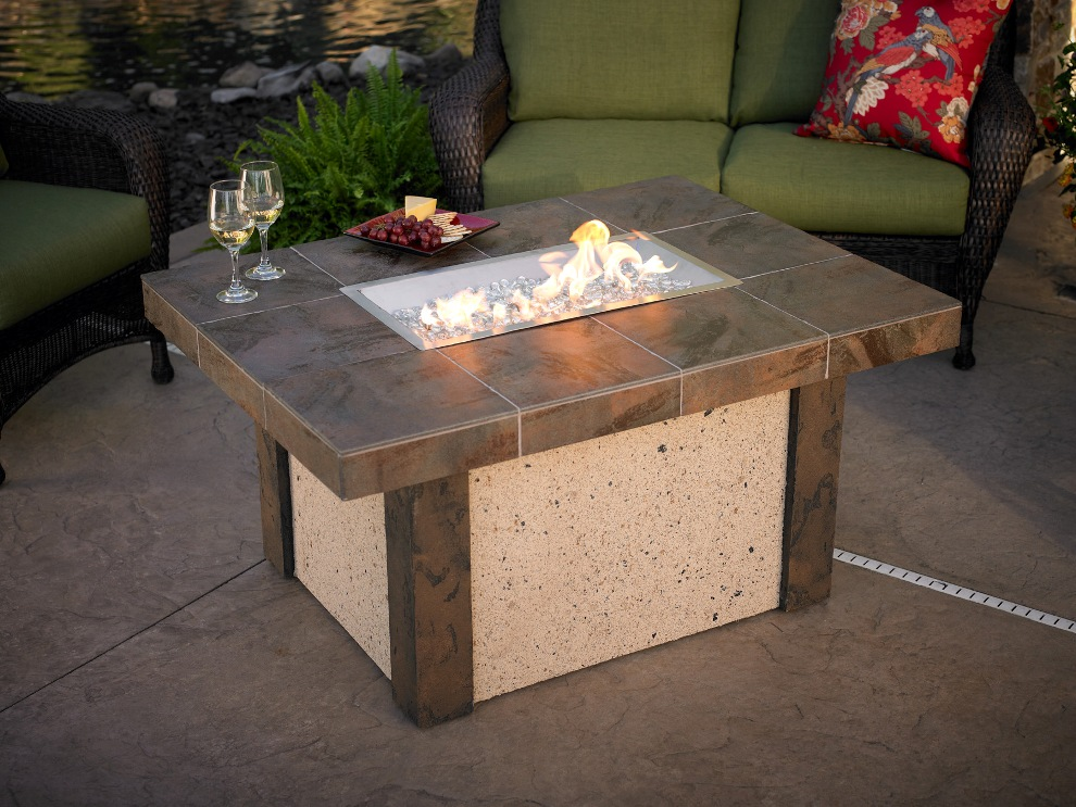 Image of: Luxury Firepit Patio Table