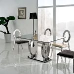Luxury Glass Dining Room Table Sets