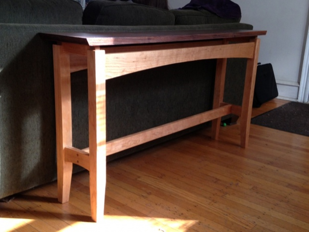 Picture of: Mahogany Cherry Sofa Table