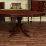 Mahogany Oval Pedestal Dining Table