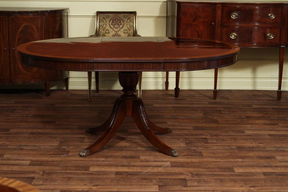 Picture of: Mahogany Oval Pedestal Dining Table