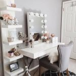 Makeup Vanity Table With Lighted Mirror Bedroom