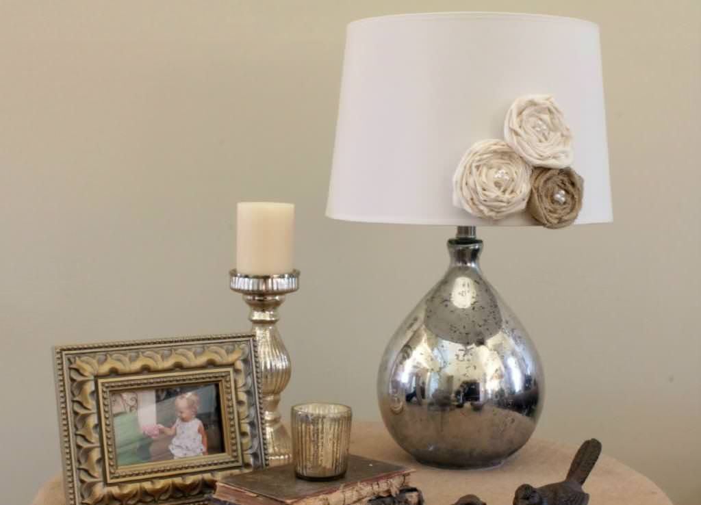 Image of: Mercury Glass Table Lamp Old