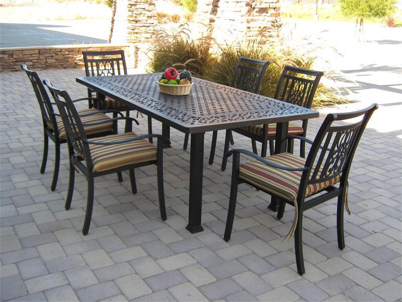 Image of: Metal Rectangular Patio Table
