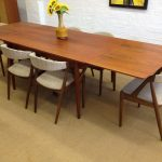 Mid Century Dining Table Long