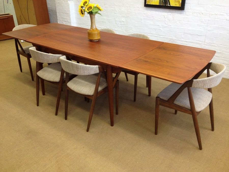 Image of: Mid Century Dining Table Long