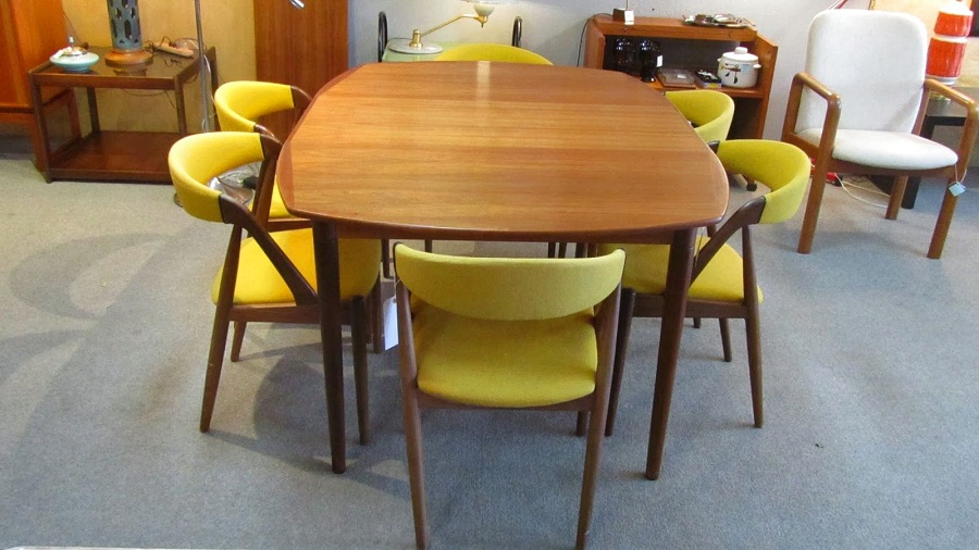 Image of: Mid Century Dining Table Room