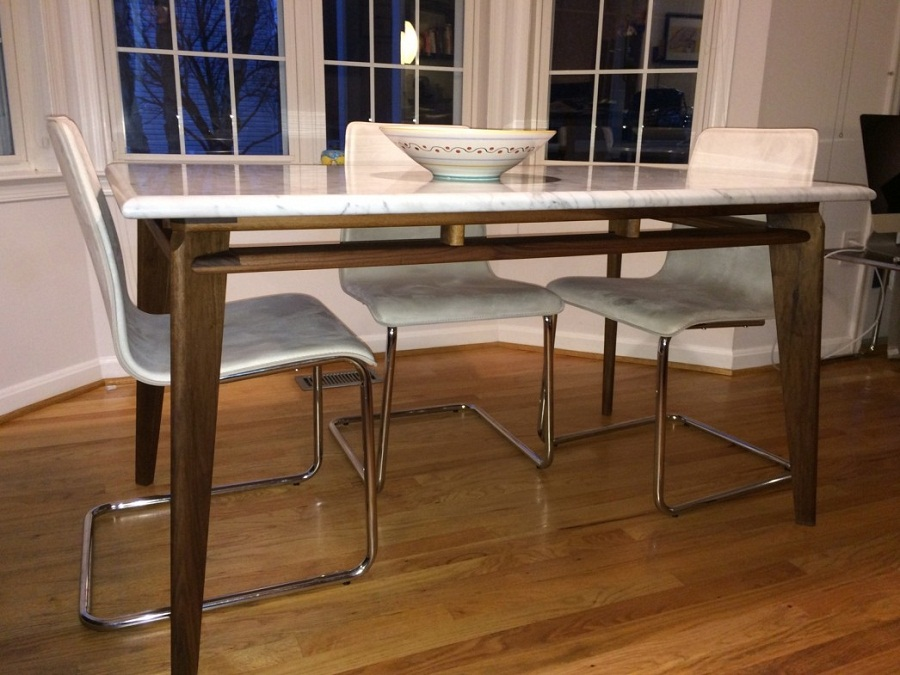 Image of: Mid Century Dining Table Shape