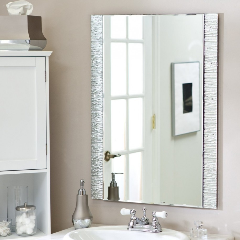 Image of: Modern Bathroom Vanity Mirrors