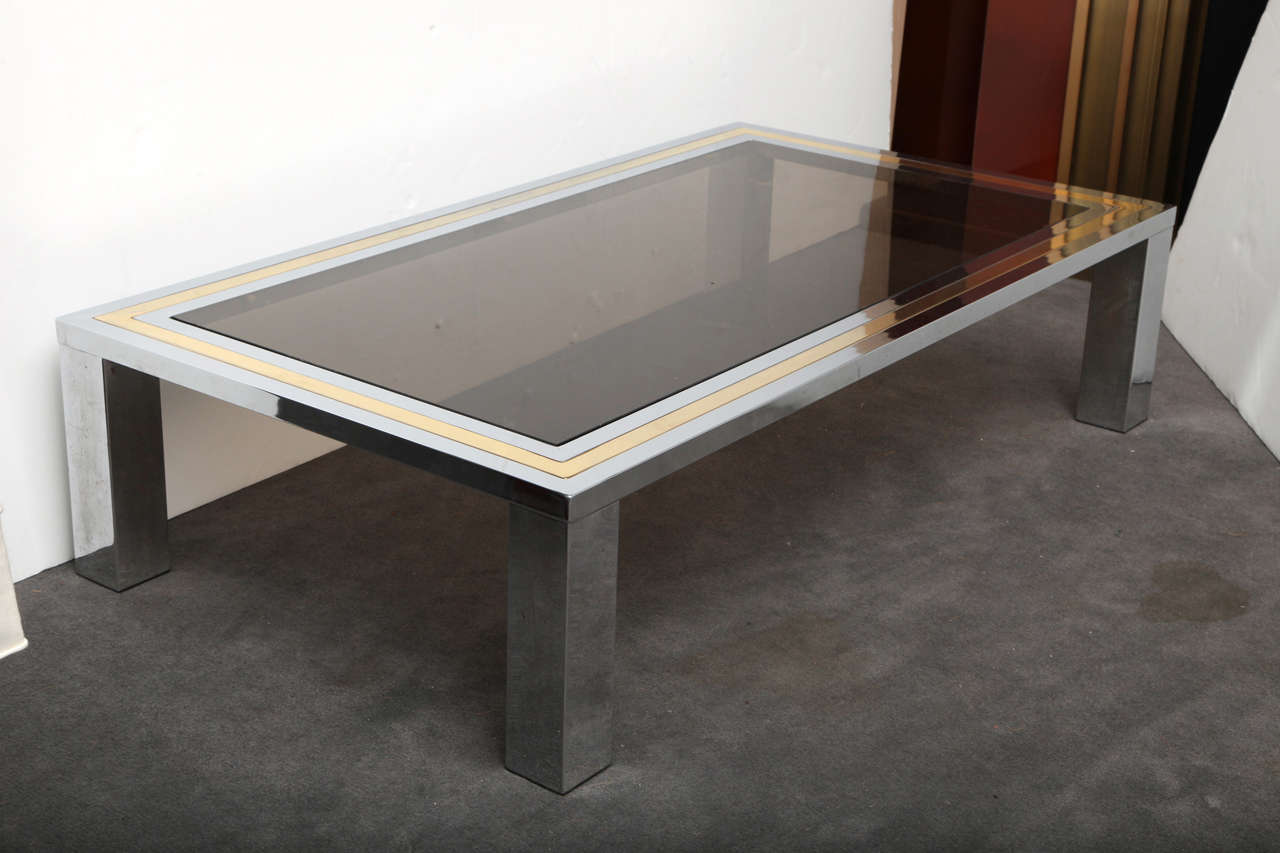 Picture of: Modern Chrome and Glass Coffee Table